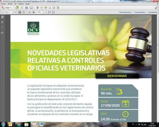 NOVEDADES LEGISLATIVAS RELATIVAS A CONTROLES OFICIALES VETERINARIOS